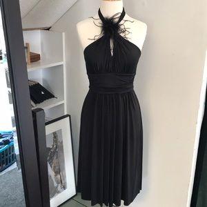 BCBG Max Azria black halter dress